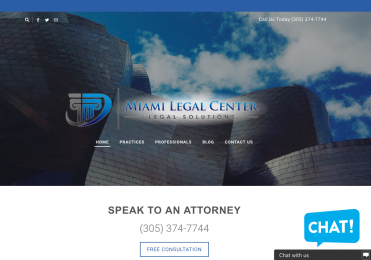 legal website lawyer professional miami