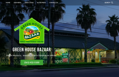 local restaurant web design florida green house bazaar