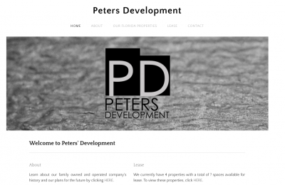 peters development website wpb